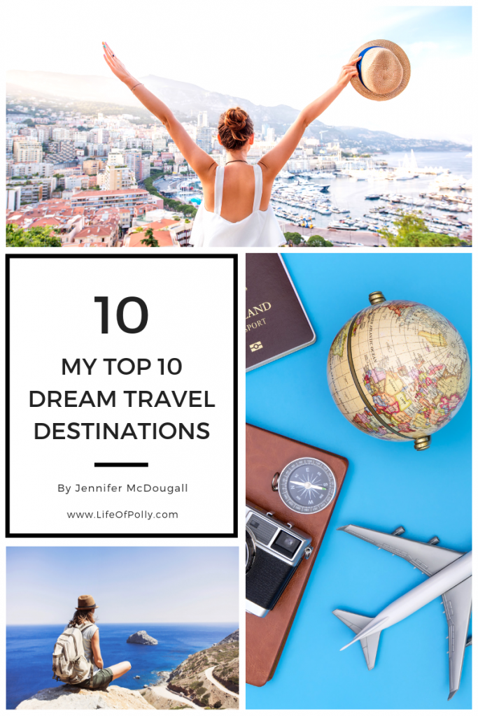 My Top 10 Dream Travel Destinations